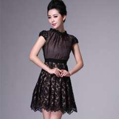 Free to join | 2012 new European and American version | Heavy embroidery high-end fashion | summer dress Q12292