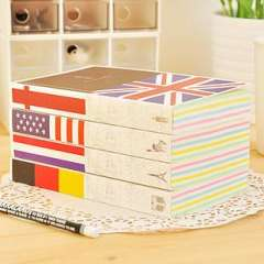 Extra-thick notebook brief national flag book diary tsmip korea stationery