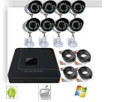 DIY 8CH H.264 Home Security Video Surveillance System