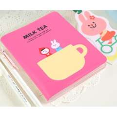 Holsteins diary belt bookmark notepad cup notebook milk tea time