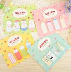 Stationery pencil style note paper cartoon sticker sticky n times stickers