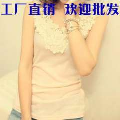 Summer slim tank top female vest decoration lace spaghetti strap vest basic shirt
