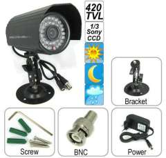 Wholesale Waterproof IR Digital Sony CCD Video Camera Support 420 TV Lines