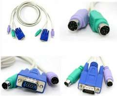 VGA\SVGA KVM Keyboard Mouse Video Cable Switch