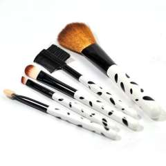 Cosmetic brush 5 piece set ultra long 966 black-and-white