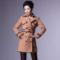 Winter Blast hot | Thickened to support version | Heavy wrapping | Shuangpai buckle dress coats W6060