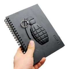 Fashion Black 4 series grenades notebook / notepad