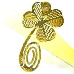 18K gold-plated Korea bookzzicard creative cute bookmarks - Clover
