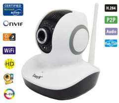 wide angle surveillance camera support pan tilt control