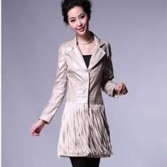 European style autumn and winter | European and American big | tassel type long section | Women's windbreaker jacket | Wholesale 1543