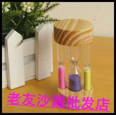 Tube multicolour hourglass mini hourglass multicolour sand bottles decoration hourglass gift