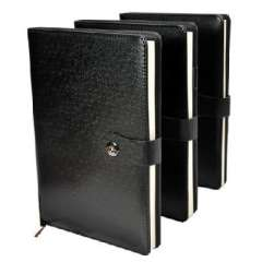 High-end business quality leather buckle suction notebook / business / Notepad