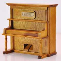 Vintage wool vertical piano music box birthday gift male