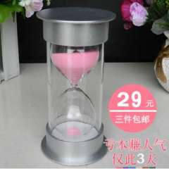 Hourglass timer child birthday gift toy souvenir plastic decoration