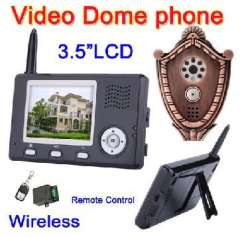 Wholesale Wireless Video Door phone Intercom System 3.5 LCD IR Peephole Camera & Unlock