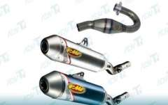 Titanium motorcycle exhaust pipes