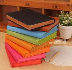 Min order $10 free shipping Candy Colour PU cover notebook High qulity