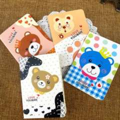 Min order $10 Free shipping Personalized notebook bear series woven thread book cartoon notepad