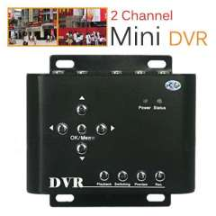 Mini 2CH Security CCTV DVR | Support D1\QVGA up to 32GB SD\SDH Card Connect with PC to Playback by USB Interfaces