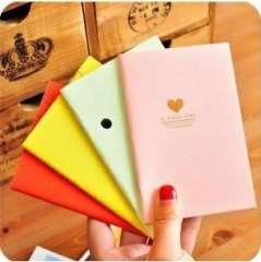 Min order $10 Free shipping Stationery candy color bronzier 4 notepad cartoon diary