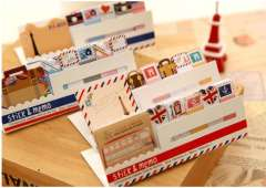 Min order $10 Free shipping Stationery animal flag l post n times stickers