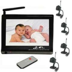 2.4GHZ Baby Monitor with 4 Cameras