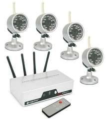 4CH Wireless surveillance cameras kit with 4 cameras