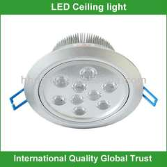 High quality 9w led recessed ceiling light