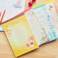 Stationery tsmip 72 light color letter pad book 4