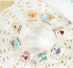 Min order $10 free shipping Quality diary stamp crystal mini stamp set travel lover 4