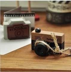 Min order $10 free shipping Log bentoy vintage film small camera pattern stamp small handmade wooden stamp mini