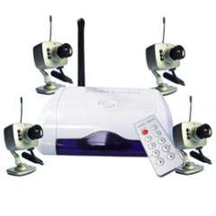 Wireless camera | Wholesale Wireless Surveillance Combo with 4 Cameras PAL