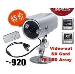 420TVL IR LED Array CCTV Waterproof DVR Camera+Video-out +SD Card+Motion Detection+night version