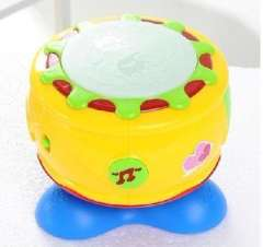 Excellent shellfish than children electric rotating music hand drum beat