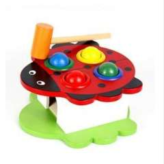 Animal knock tables | Taiwan beat of room | children's educational wooden toys | Color Random