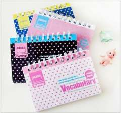 Polka dot small coil words this stationery beautiful small bookishness