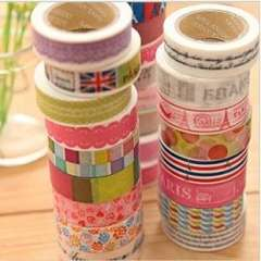 Korea stationery paper tape multicolour cartoon tape diy decoration stickers