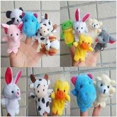Storytelling is a good helper with double foot small animals finger even / hand puppet | Color Random