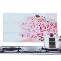 Kitchen with aluminum foil high-temperature oil sticker - Petals - Rose