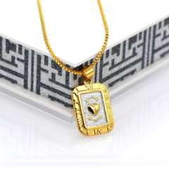 Vintage Style Women\Men Gift 18K Gold Plated Fashion Jewelry Double color heart Pendant & Necklace Wholesale p30081