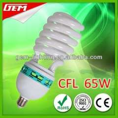 6400K High Power Half Spiral CFL 65W From China Supplier