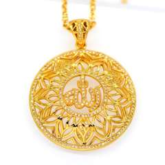 Vintage Allah pendants Women\Men jewelry Gift 18K Gold Plated Fashion african Jewelry Pendant Necklace p30099