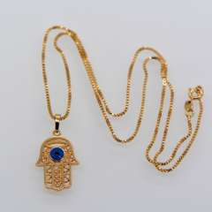 Fashion eyes Hand pendants Necklace woman or men Jewelry gift High Quality 18K Real Gold Plated Trendy Jewelry p30087