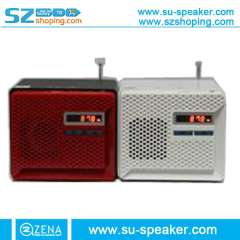SU-182 Support USB Disk + Micro SD + 3.5 AUX mini speaker