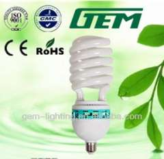 E27 PBT tri color half spiral 85W electric energy saver