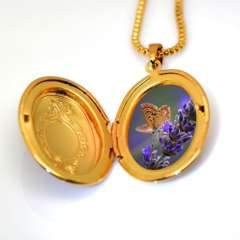 18 k gold classic box pendants can pack perfume cotton and photos p30037