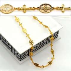 Necklaces Fashion Suitable for women Jewelry High Quality 18K Real Gold Plated Necklace Jewelry Wholesale n50050