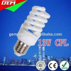 China Supplier T2 T3 Energy Saver 13W E27 CFL Lamp 6400K