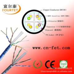 Supply of six non-shielded multi-strand cable network. Network cable 7 * 0.20 tested