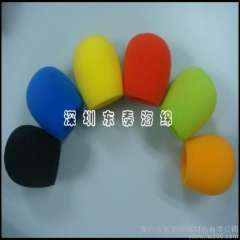 Supply color sponge microphone sets, color sponge microphone sets, microphone sponge cover ventilation